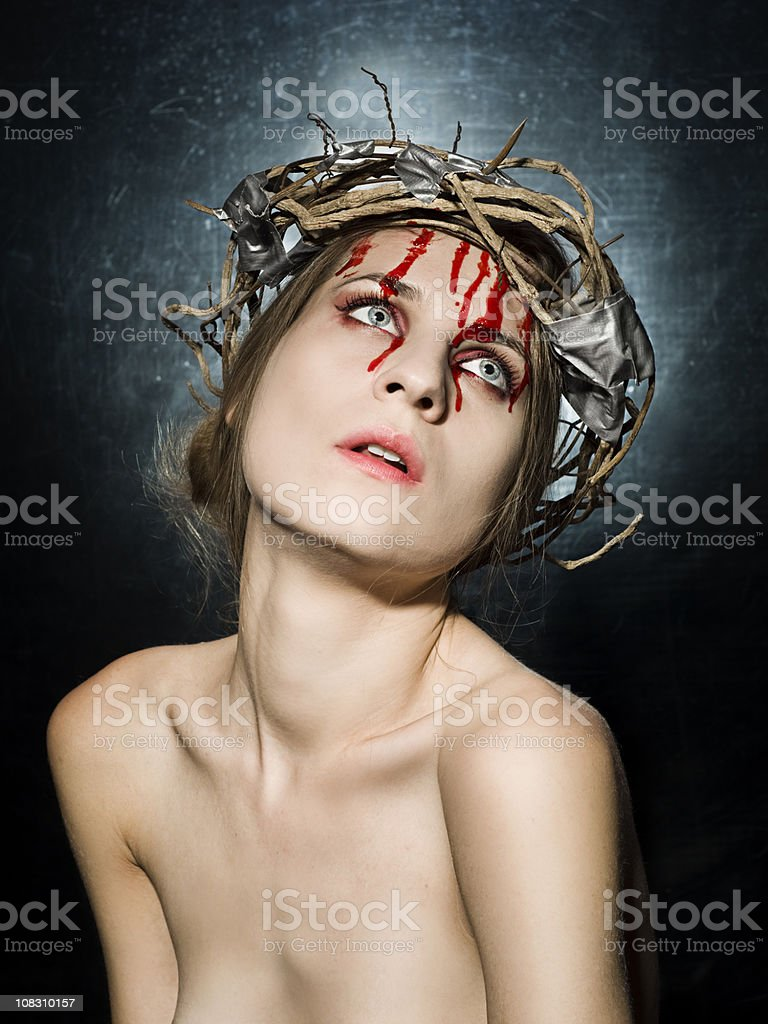 duct tape Jesus royalty-free stock photo