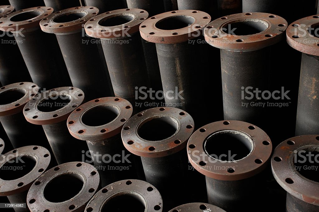 Ductile iron pipes royalty-free stock photo