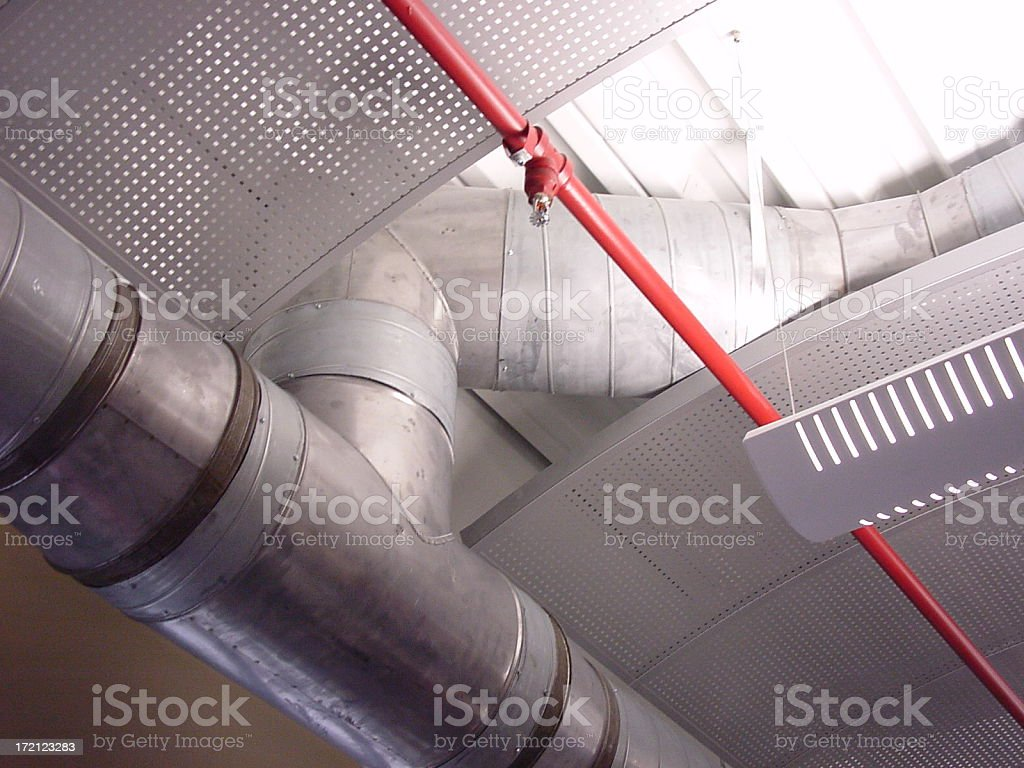 Ducts and Pipes royalty-free stock photo