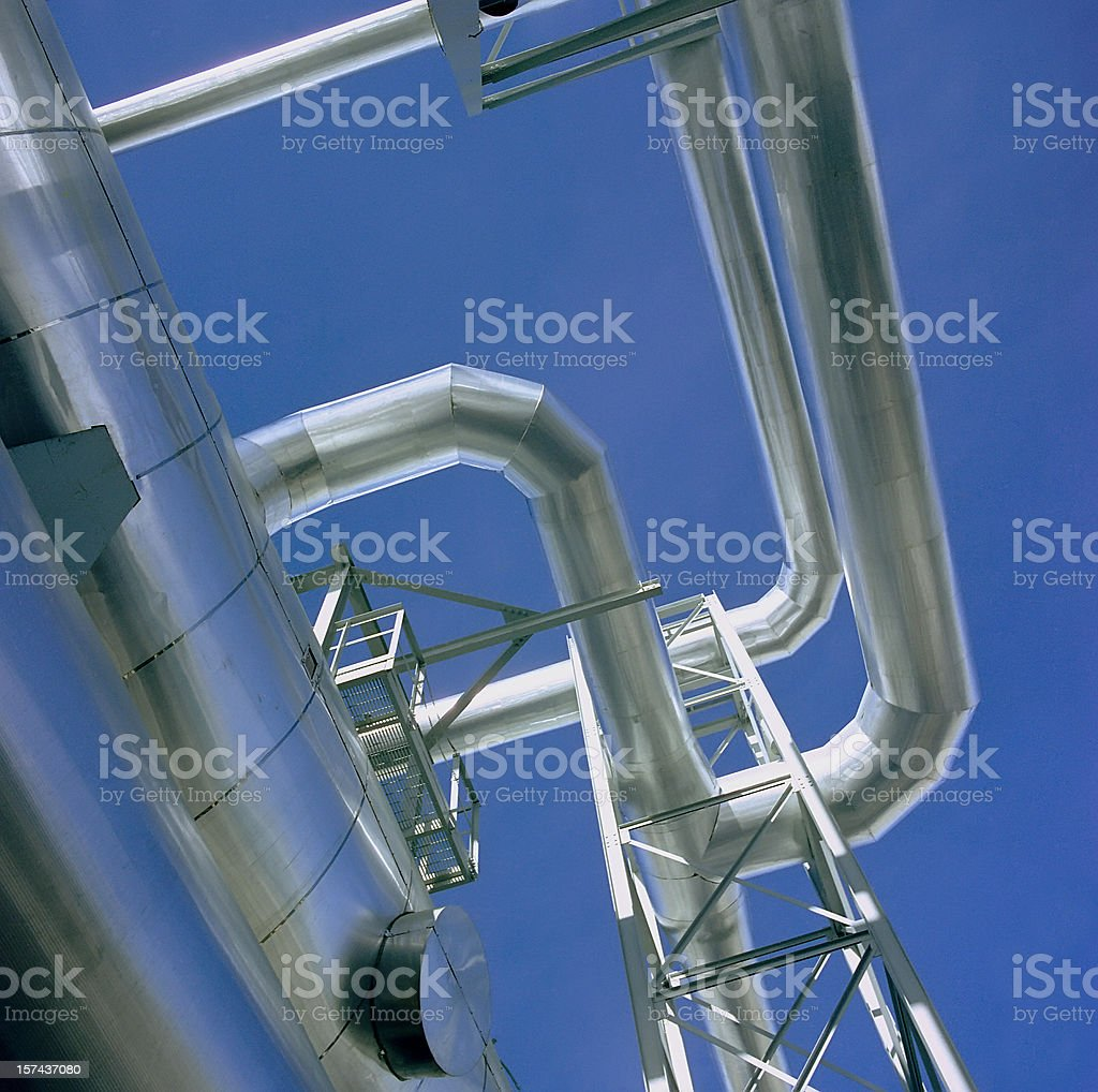 Ductwork Elbows royalty-free stock photo