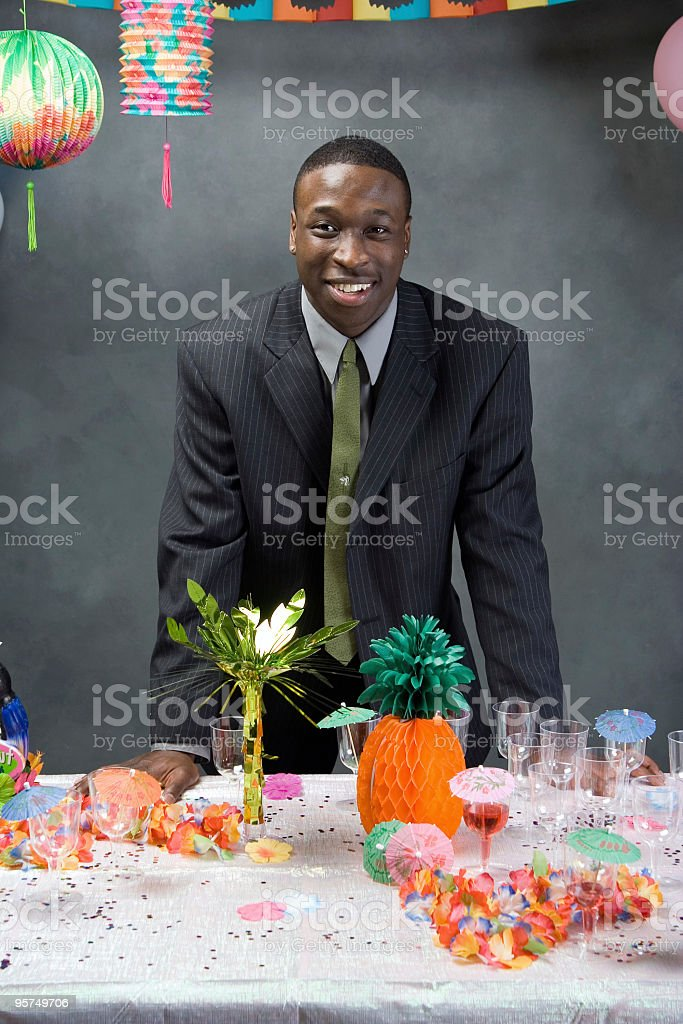 Dude at prom royalty-free stock photo