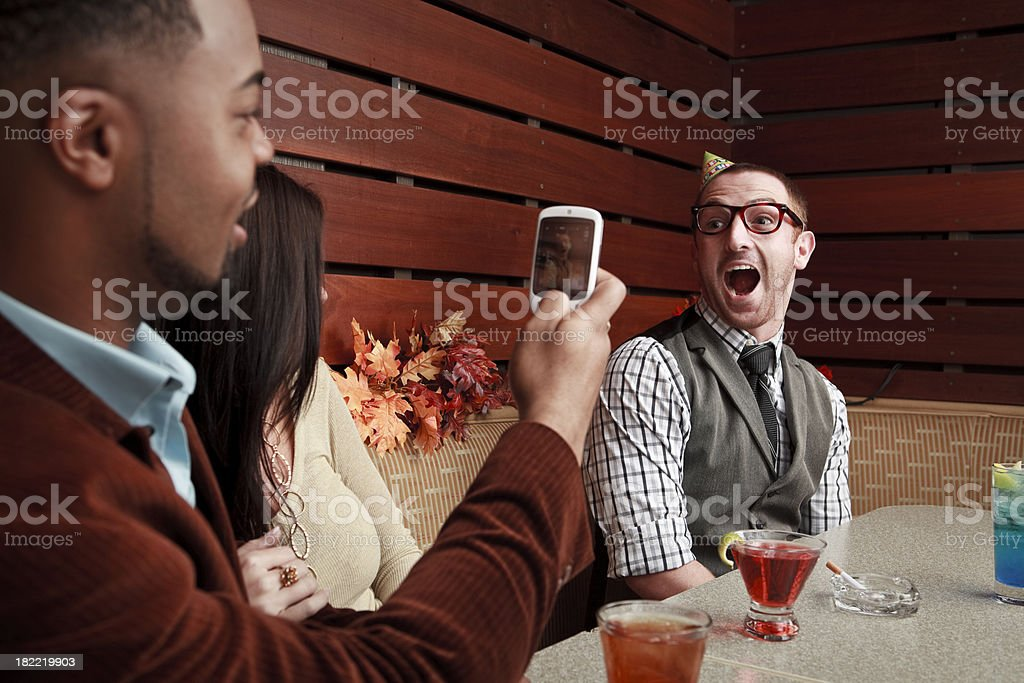 Dude loses royalty-free stock photo