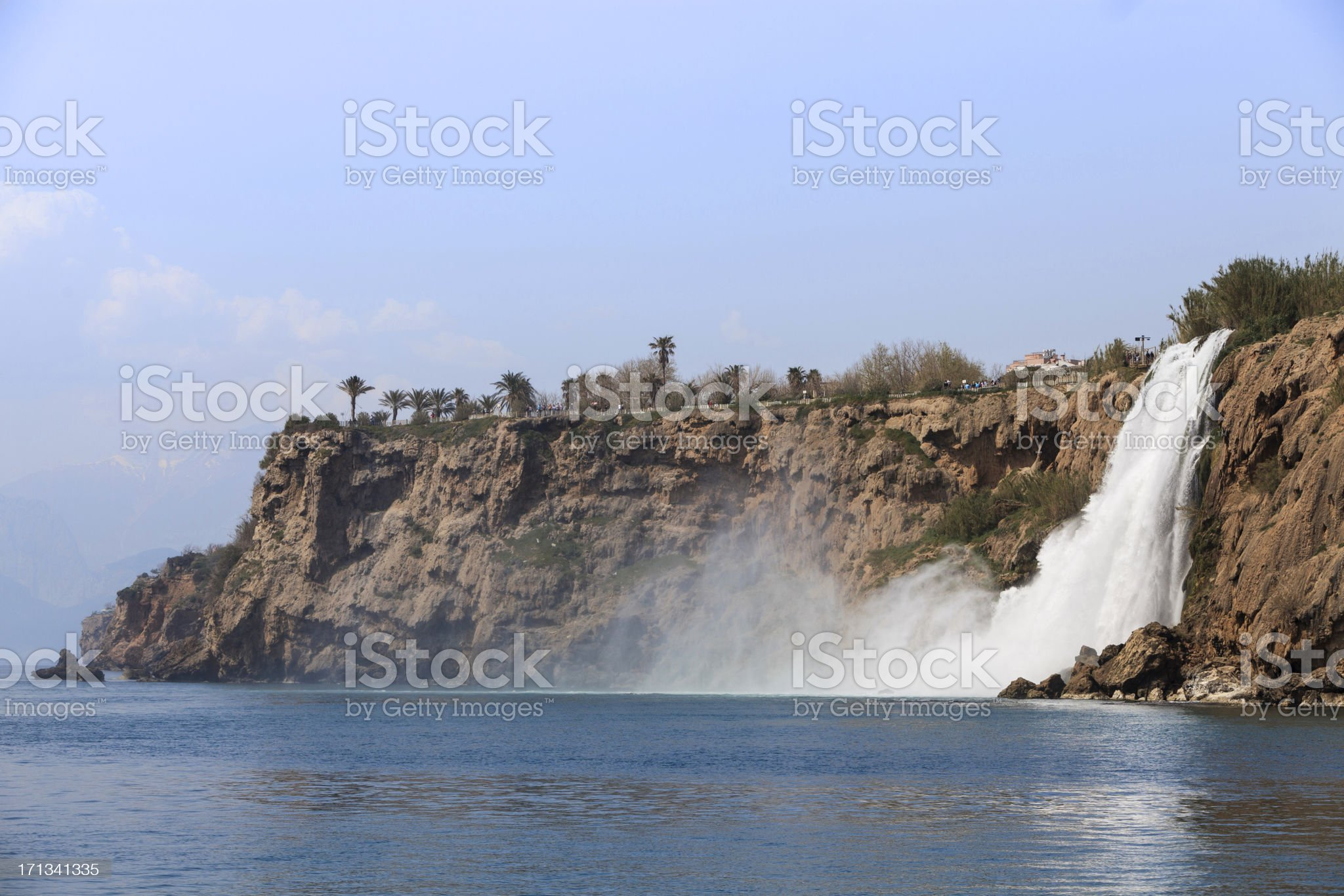 Duden Waterfall, Antalya royalty-free stock photo