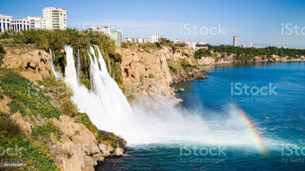 Duden waterfall stock photo