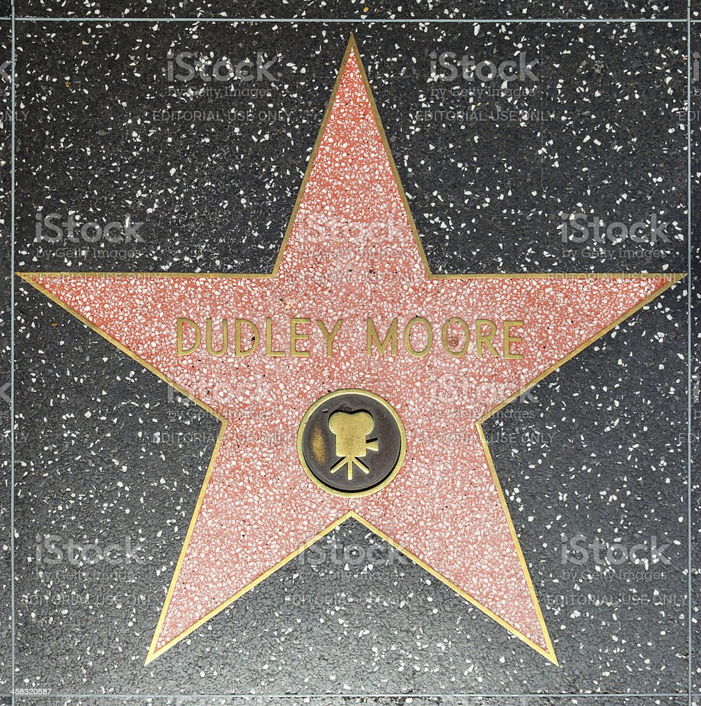 Dudley Moores star on Hollywood Walk of Fame royalty-free stock photo
