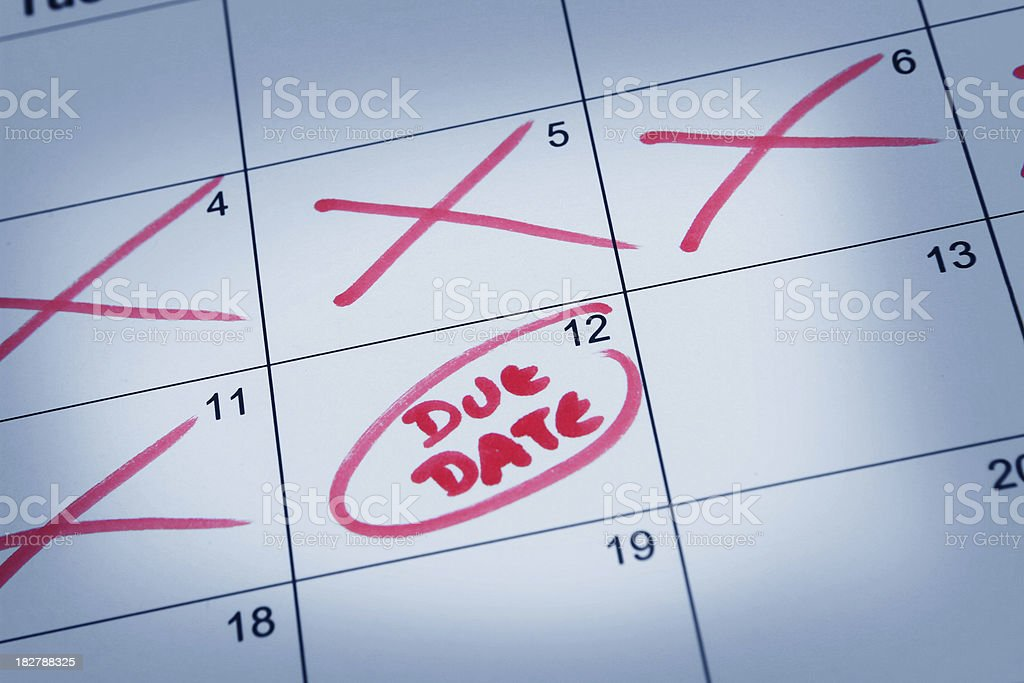 Due Date royalty-free stock photo