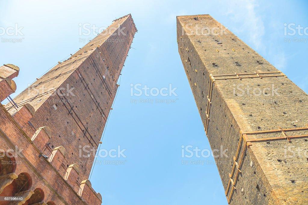 Due Torri Bologna stock photo