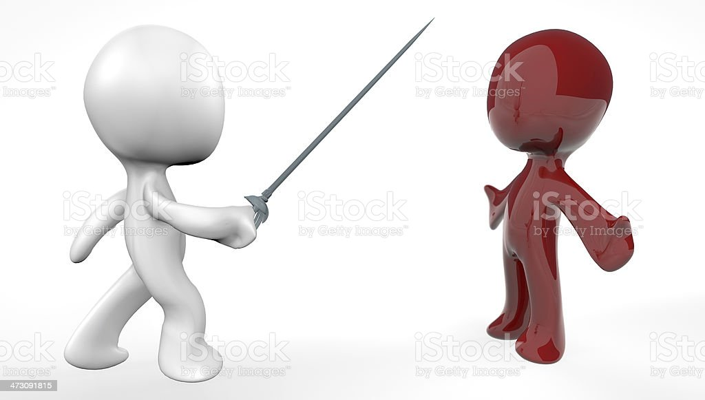 3D Duel 2 royalty-free stock photo