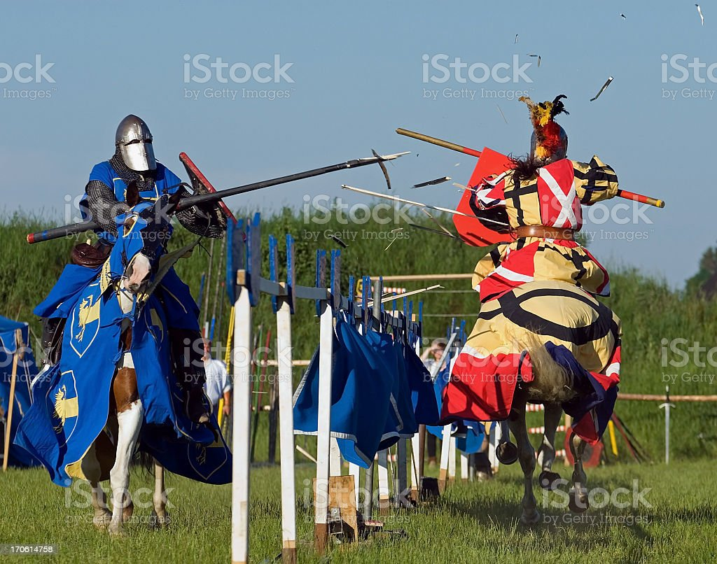 Duel royalty-free stock photo