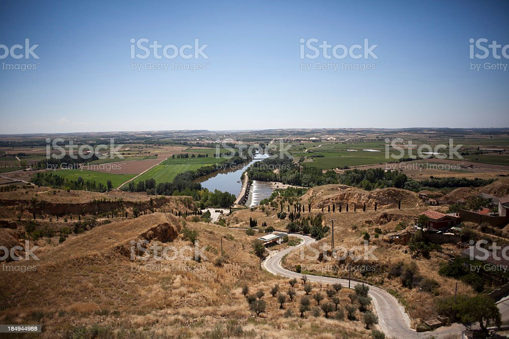 Duero river stock photo