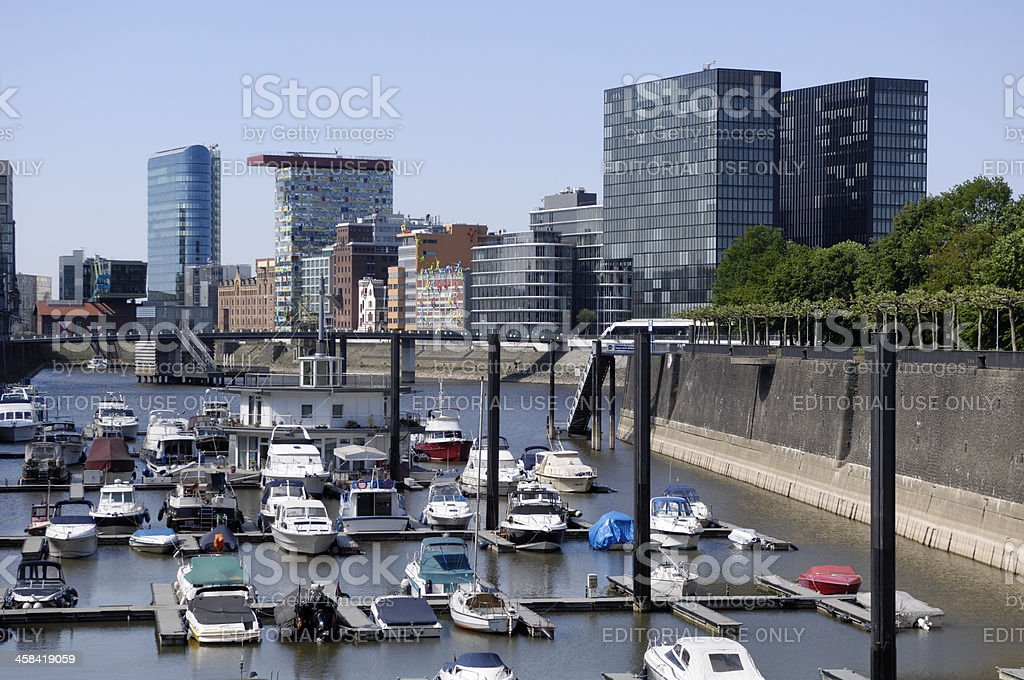 Duesseldorf Media Harbour and marina royalty-free stock photo