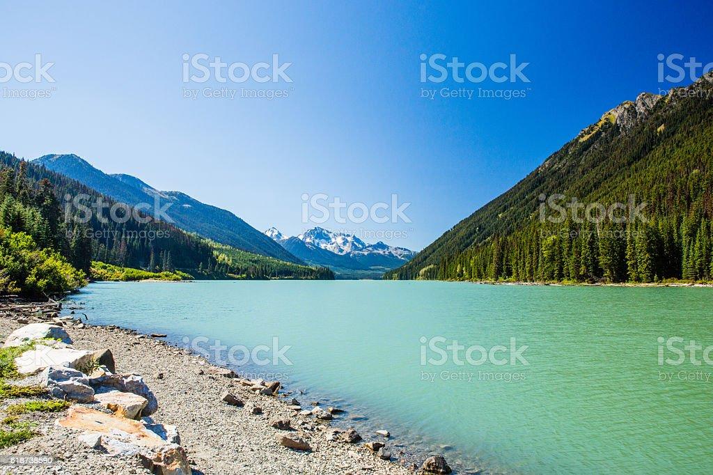 Duffey Lake, Duffey Lake Provincial Park, BC, Canada stock photo