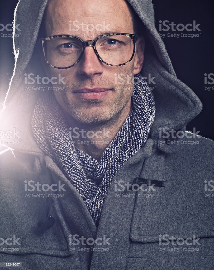 duffle coat man royalty-free stock photo