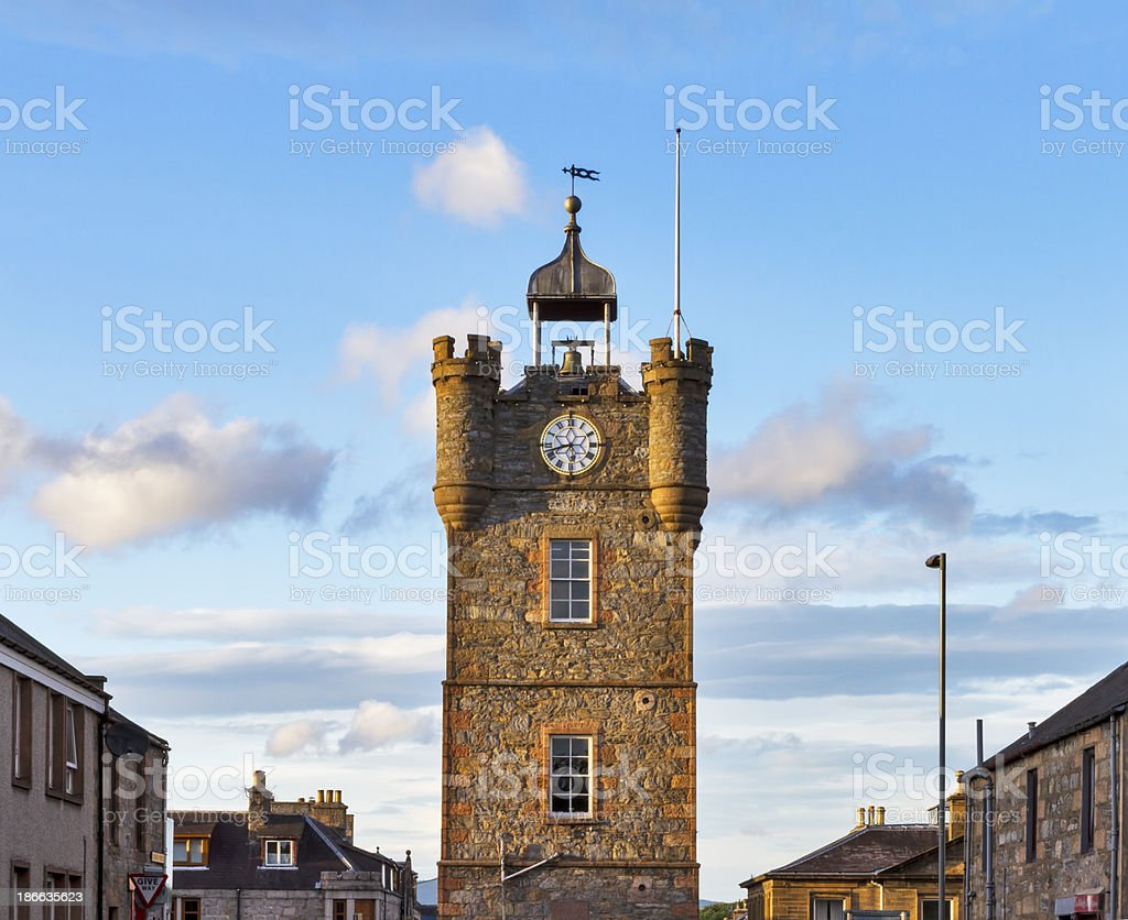 Dufftown, The Clock Tower stock photo