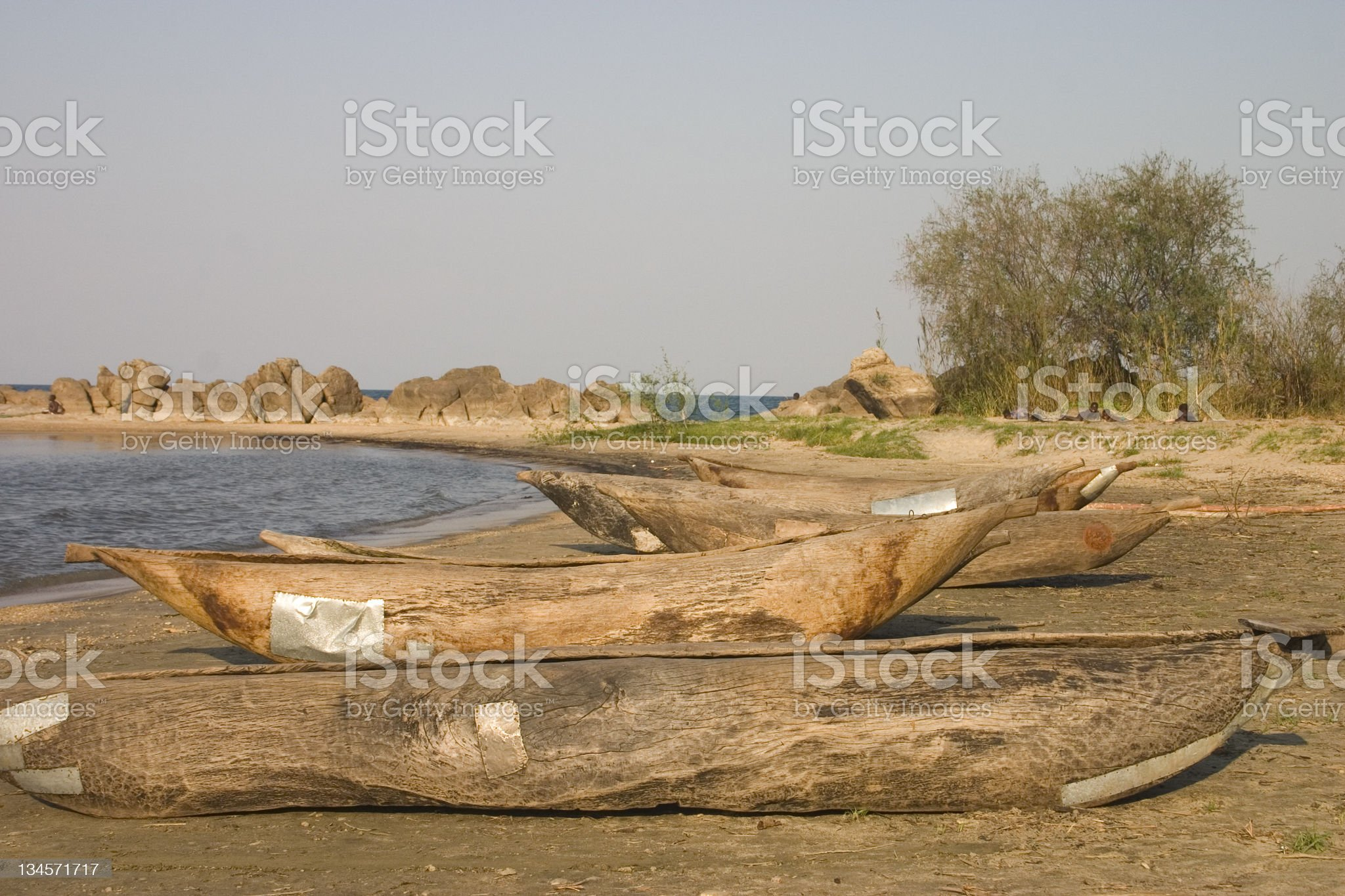 Dug Out Canoes royalty-free stock photo