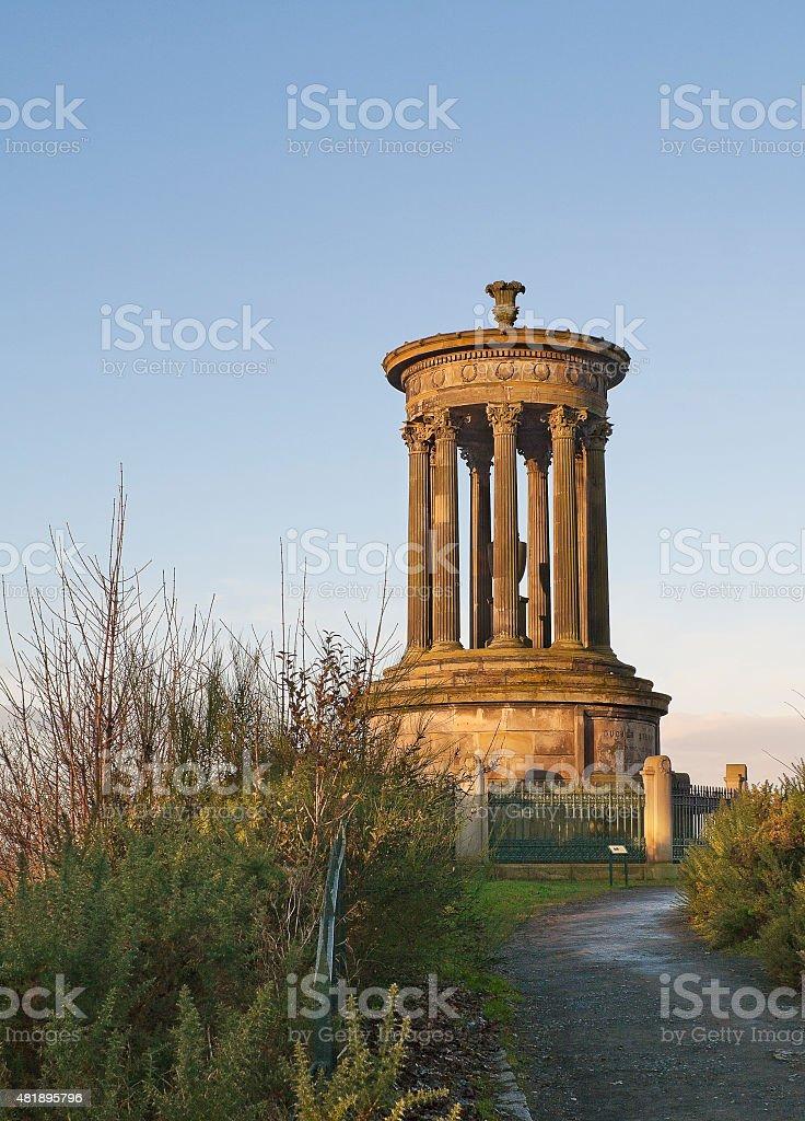 Dugald Stewart Monument in Edinburgh, Scotland stock photo