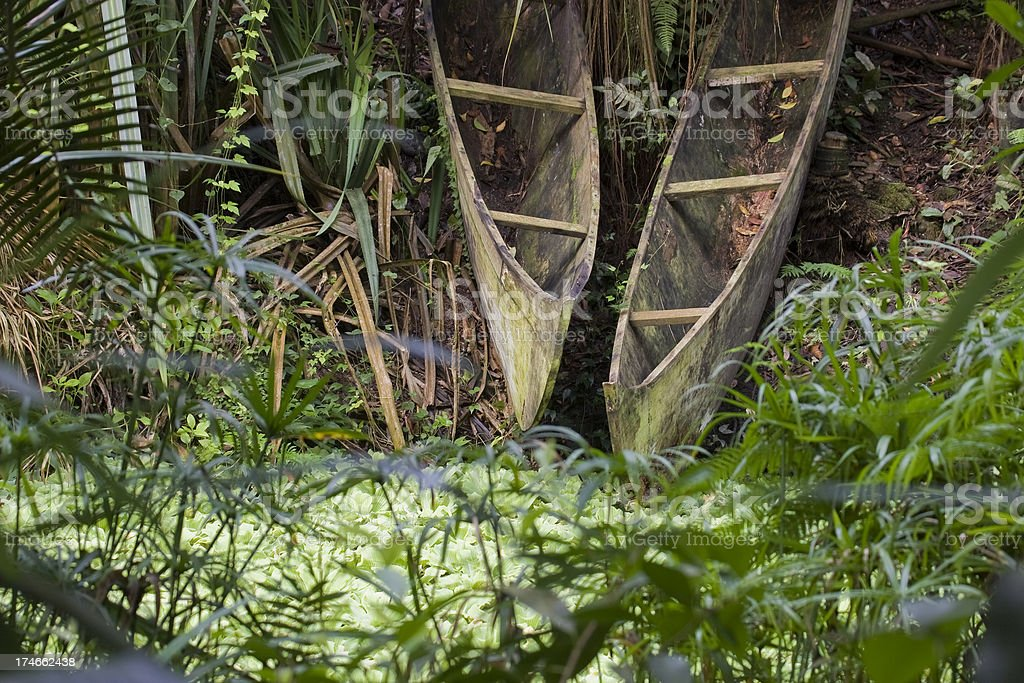 dugout canoe royalty-free stock photo