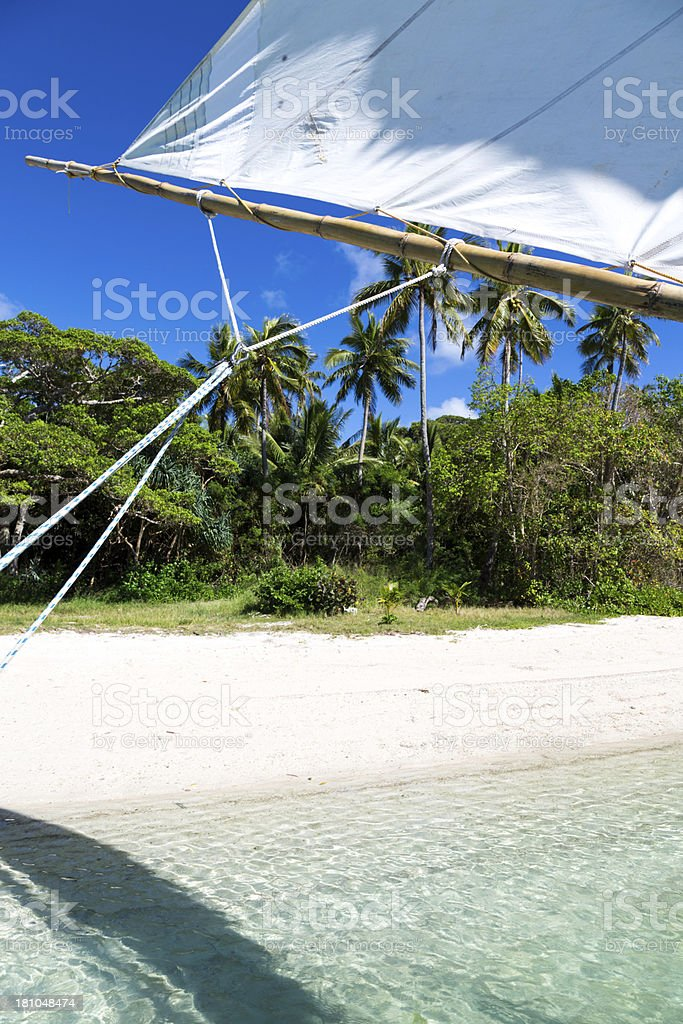 Dugout Canoe Ride on Isle of Pines royalty-free stock photo