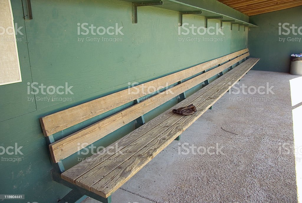 Dugout royalty-free stock photo