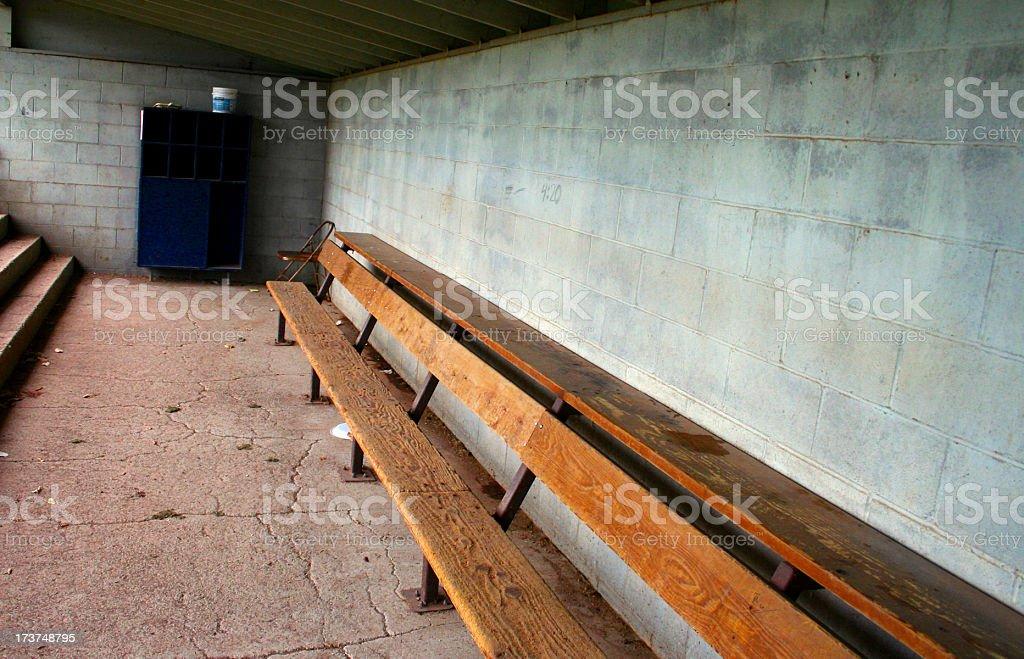 dugout stock photo