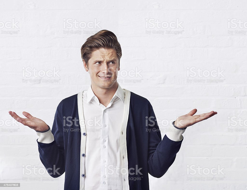 Duh! Everyone knows that! stock photo