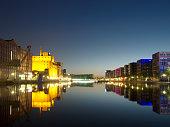 Duisburg Inner Harbor by Night
