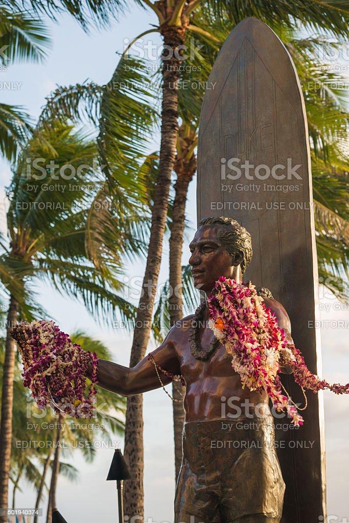 Duke Kahanamoku Statue stock photo