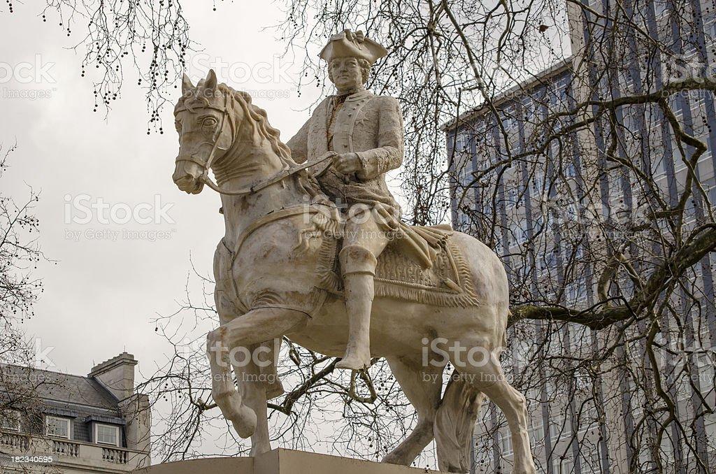 Duke of Cumberland Statue, London royalty-free stock photo
