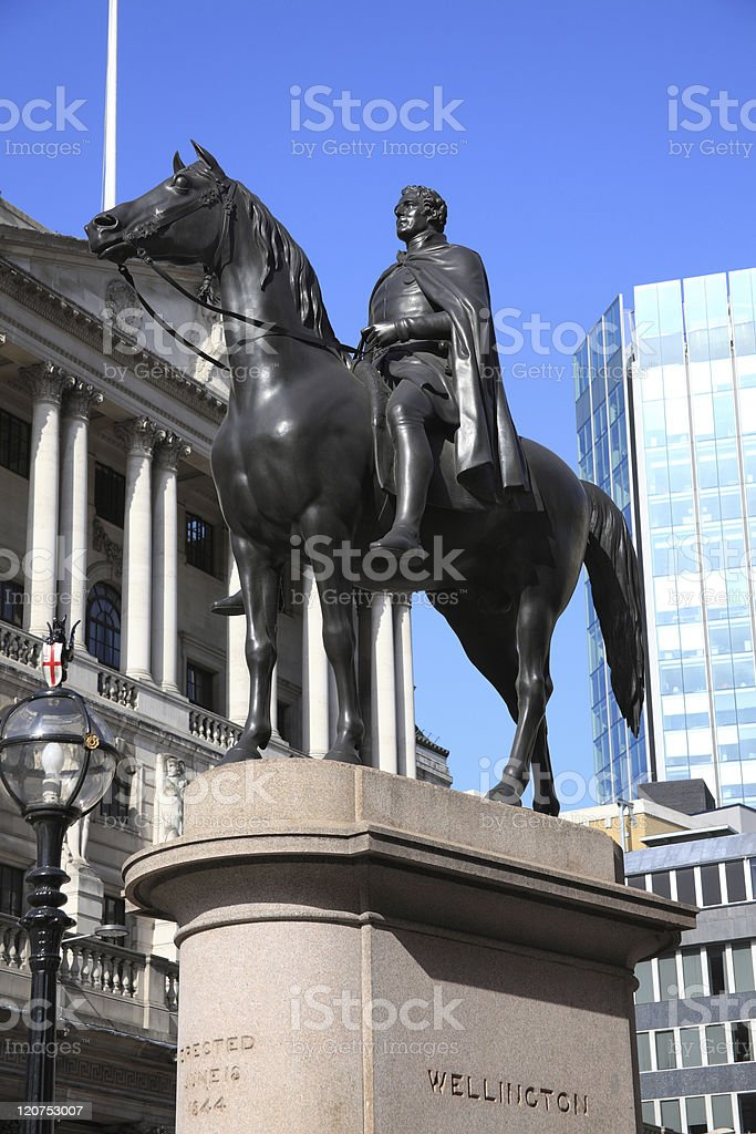 Duke Of Wellington Equestrian Statue royalty-free stock photo