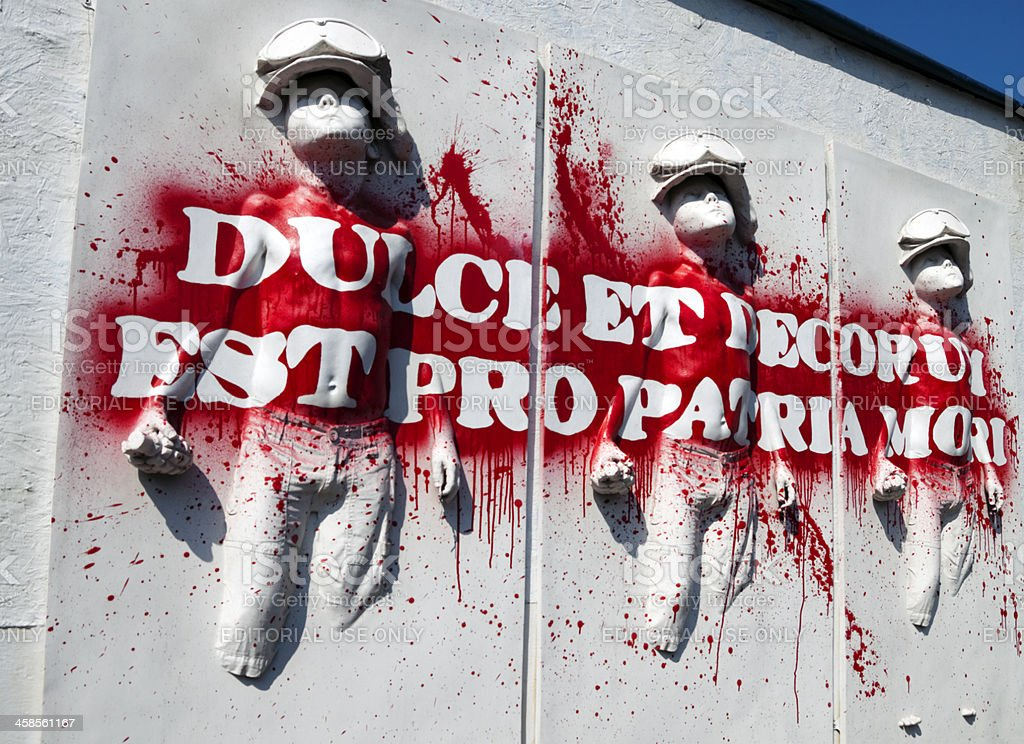 Dulce et decorum est pro patria mori stock photo