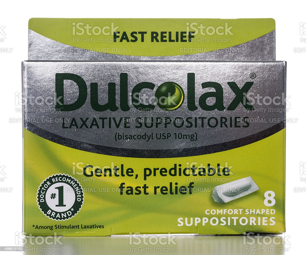 Dulcolax Laxative Suppositories stock photo