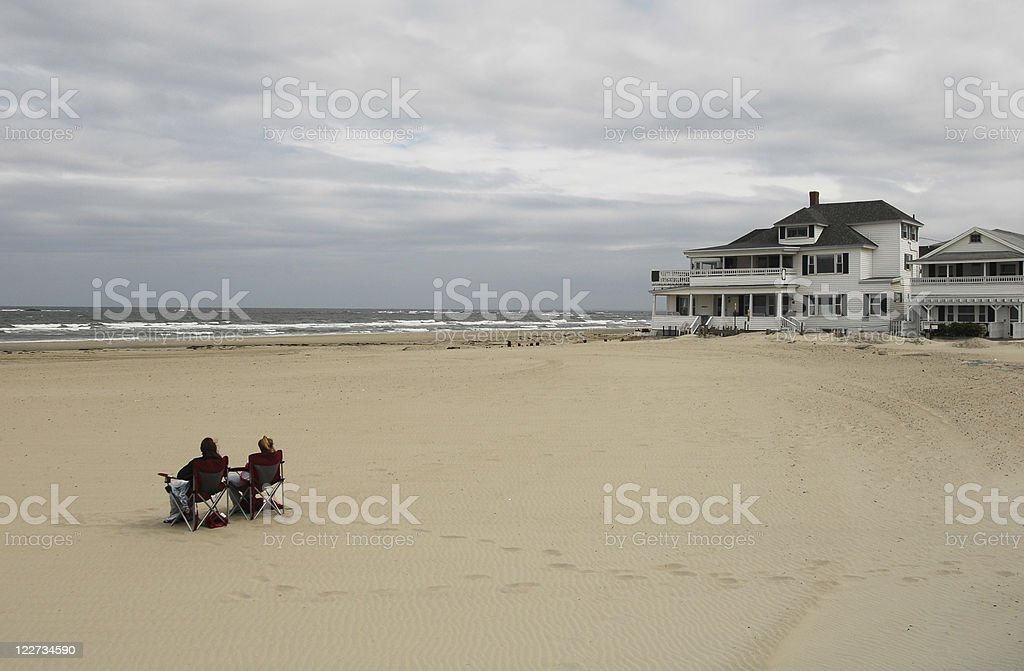 Dull Day on the Beach, New Hampshire royalty-free stock photo