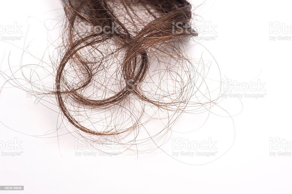 Dull Human Hair stock photo