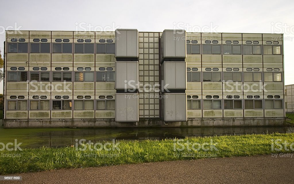 Dull office building stock photo