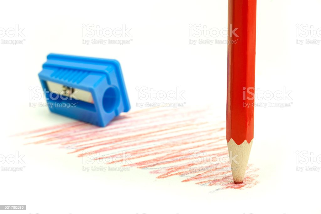 dull orange pencil royalty-free stock photo
