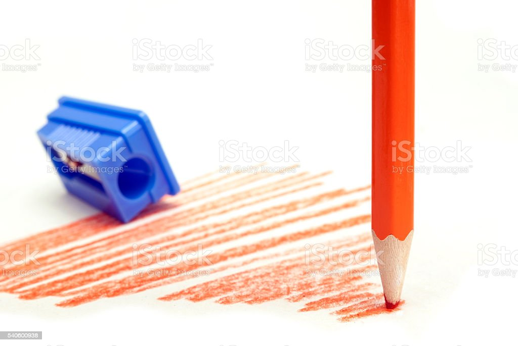 dull red pencil royalty-free stock photo