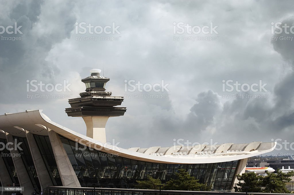 Dulles Airport stock photo