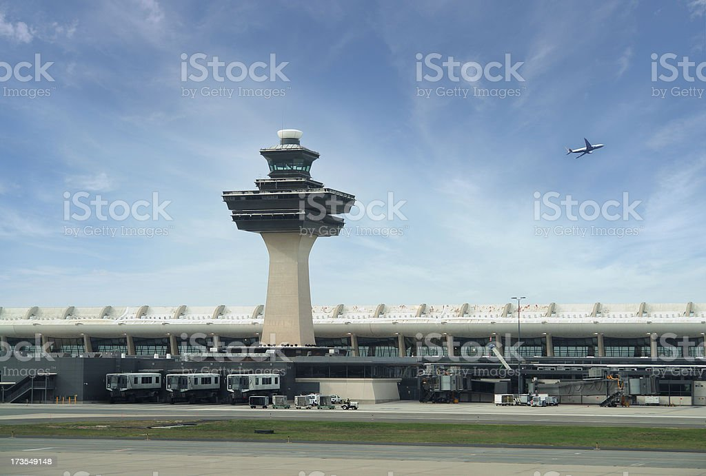 Dulles International Airport in Washington DC, USA stock photo