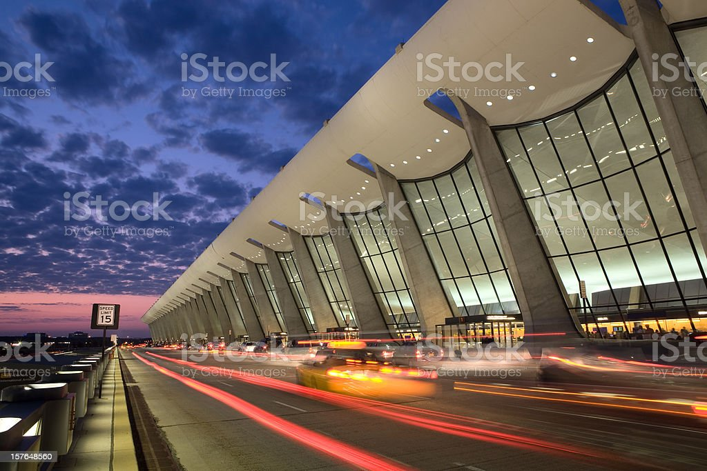 Dulles Sunrise stock photo