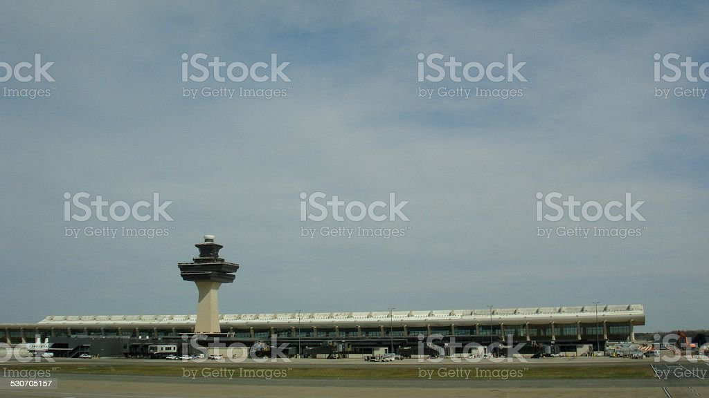 Dulles under the cloudy sky stock photo