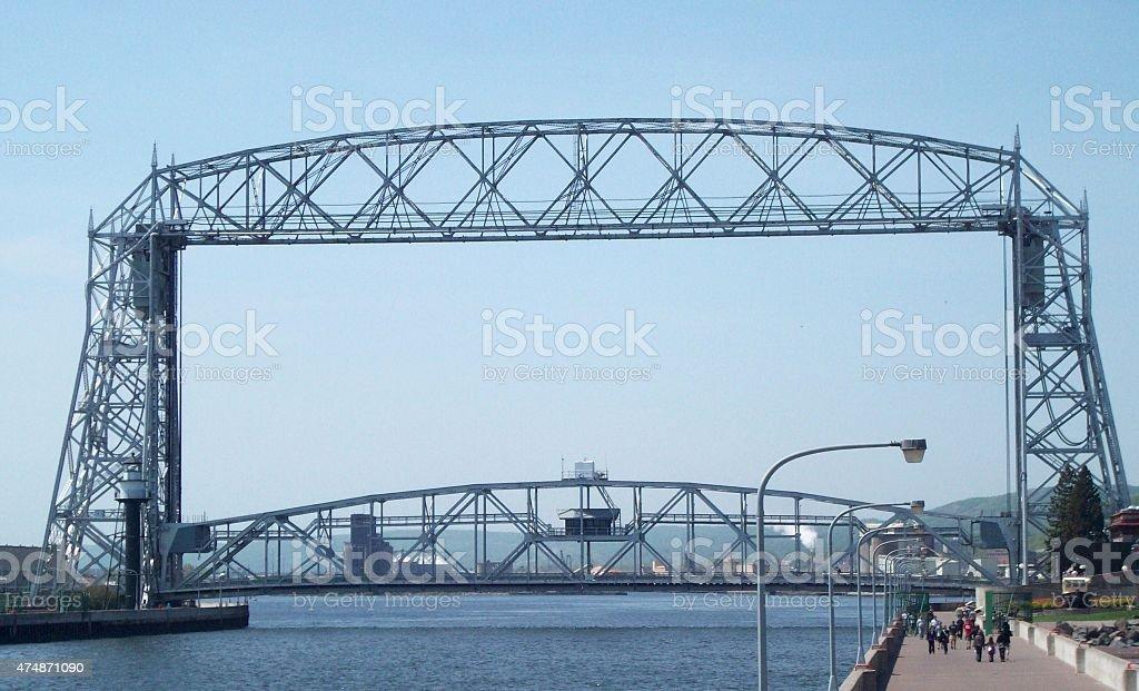 Duluth Aerial Bridge stock photo