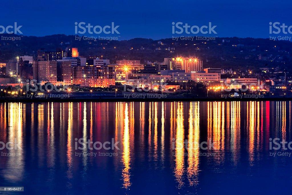 Duluth at Dusk stock photo
