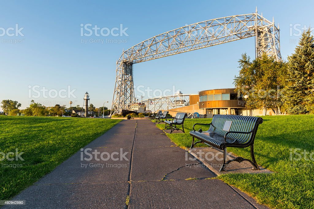 Duluth Canal Park stock photo