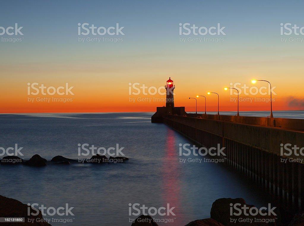 Duluth Harbor Lighthouse stock photo