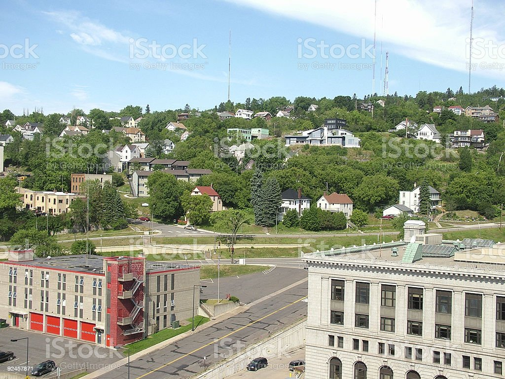 Duluth Hillside royalty-free stock photo