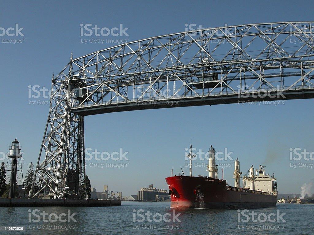 Duluth Lift Bridge stock photo