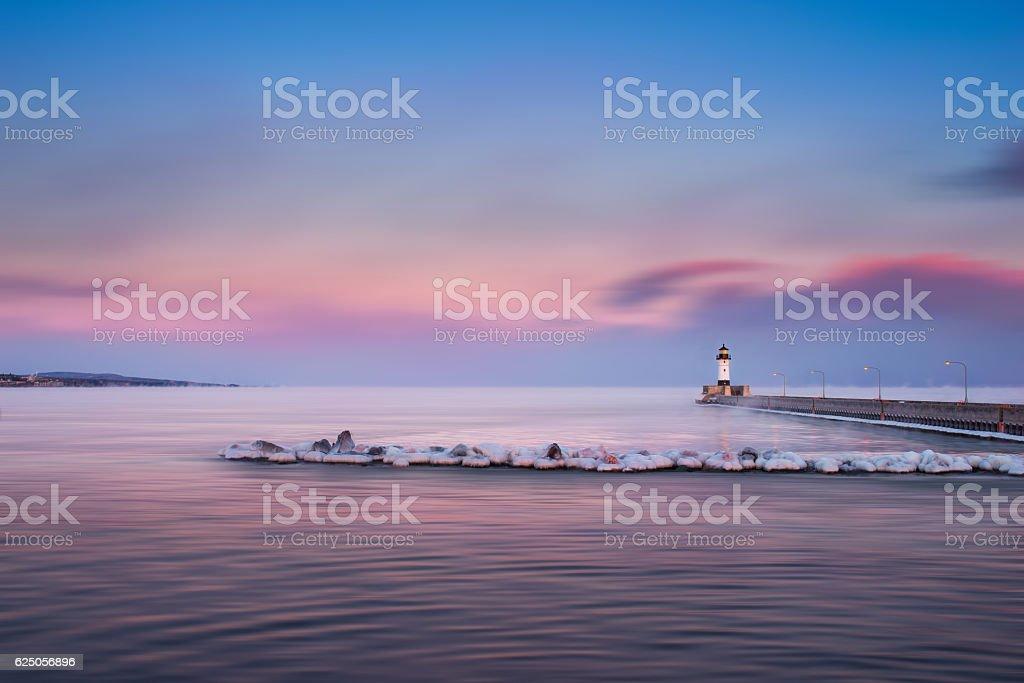 Duluth Lighthouse stock photo