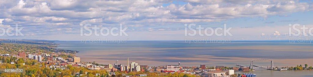 Duluth, Minnesota Panorama stock photo