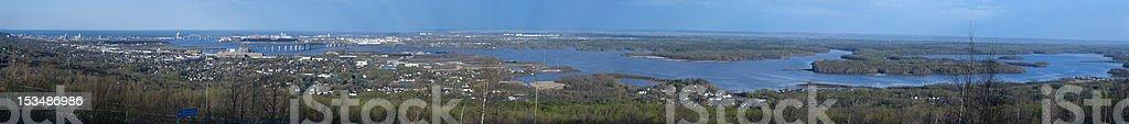 Duluth Minnesota (panoramic) stock photo