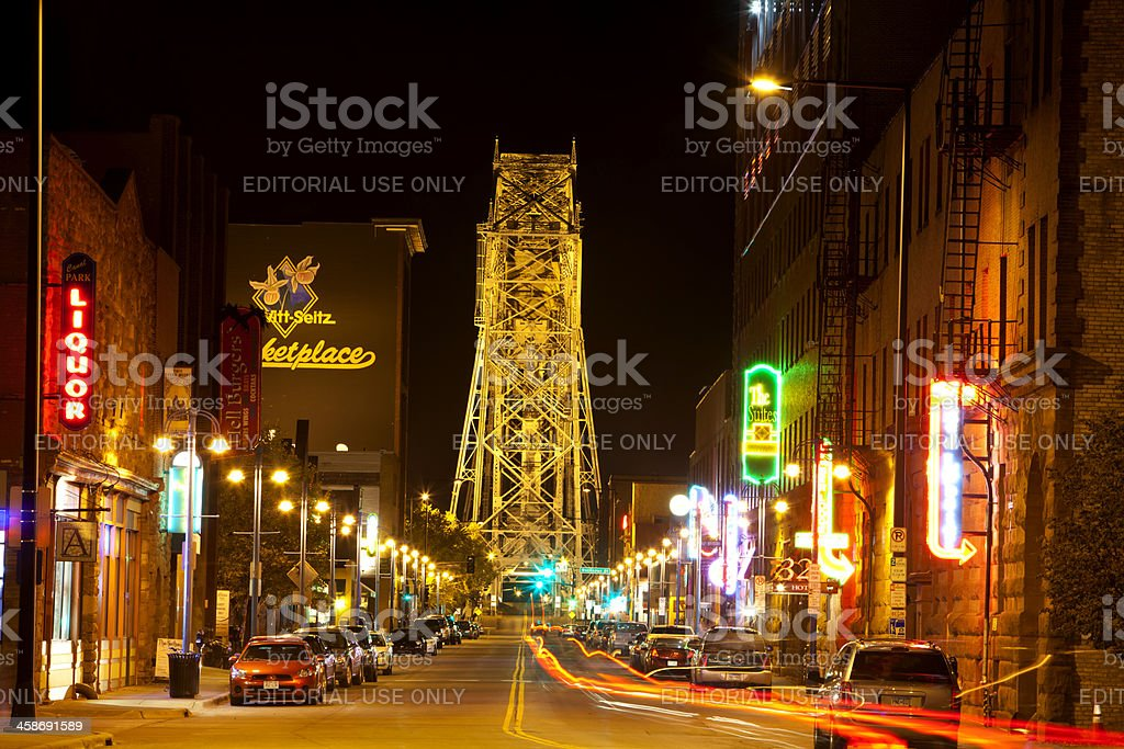 Duluth Nightlife stock photo